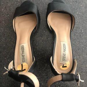 Steven madden black open toe heels